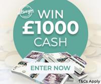 win £1,000 cash